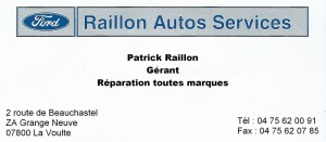 Ford Raillon La Voulte
