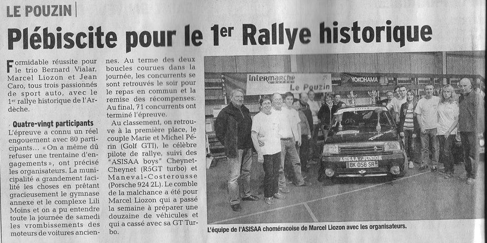 Presse 1er Tour d'Ardèche